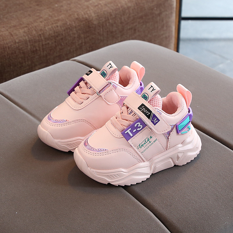 Spring/Autumn Children Sports Shoes Breathable Kids Boys Running Shoes Girls Sneakers Winter Brand Warm Toddler Cotton Shoes