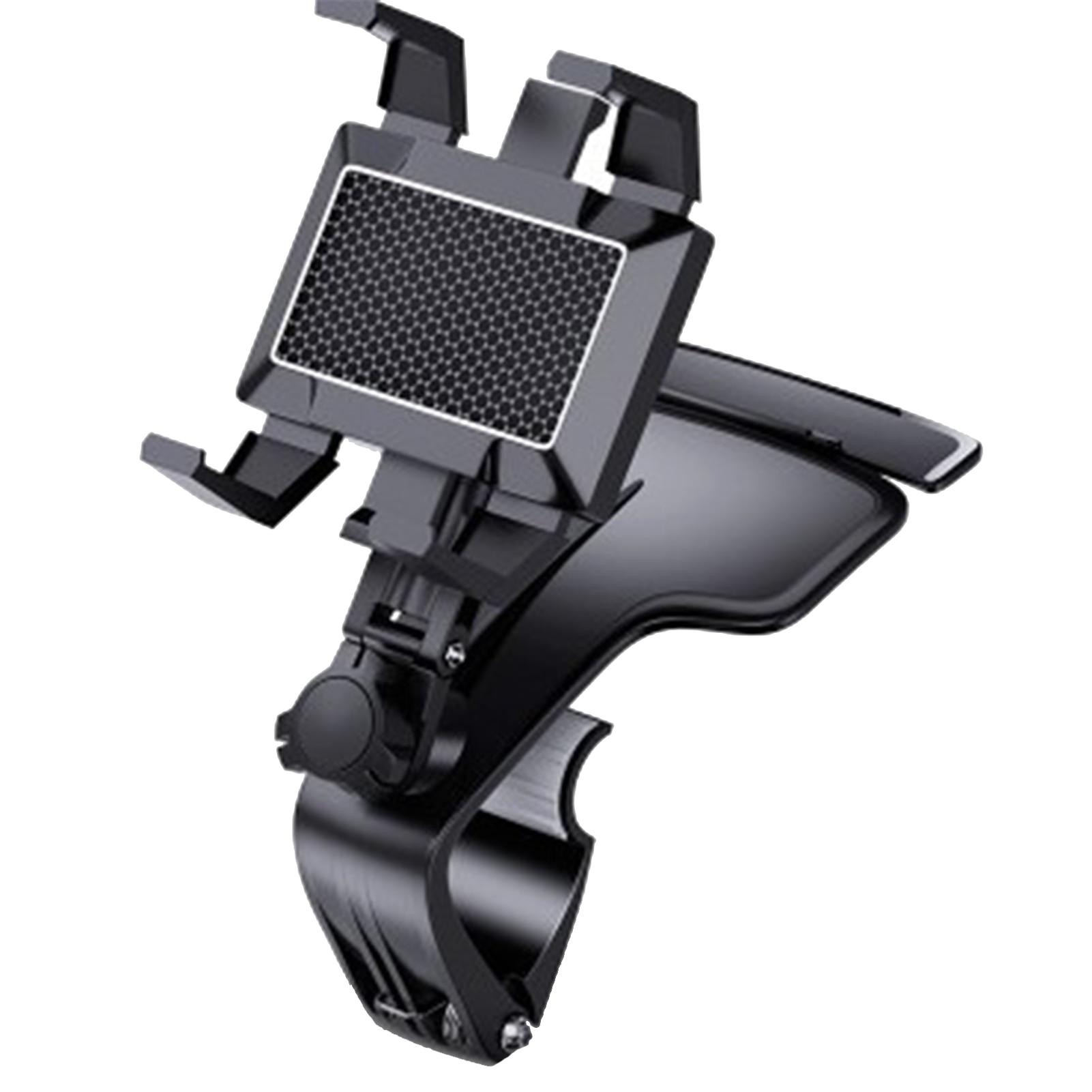 Car Multifunctional Mobile Phone Bracket 360 Degree Sun Visor Mirror Dashboard Mount GPS Stand Phone Holder With Parking Card