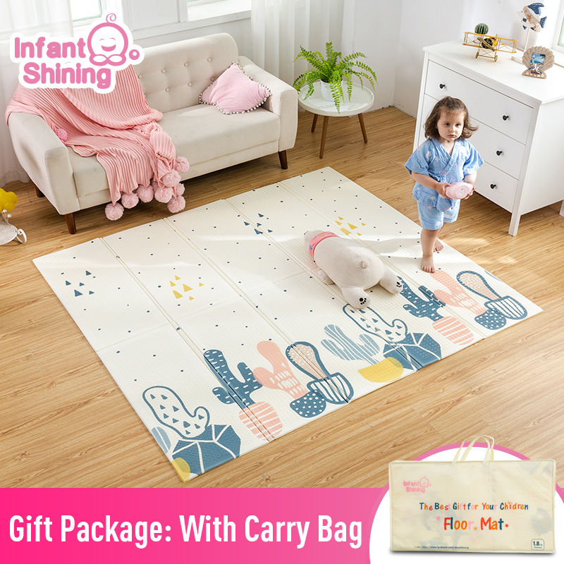 Infant Shining XPE Baby Play Mat Crawling Pad Folding Thickening  Environmental Protection Household Children Floor Mat