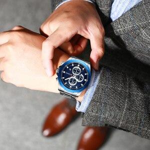 Image 5 - Najnowszy CURREN męskie zegarki Top marka luksusowy wojskowy stalowy zegarek sportowy dla człowieka męski wodoodporny męski zegar Relojes