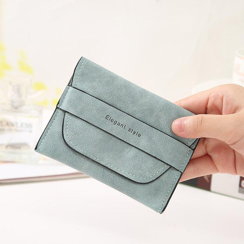 2020 de soporte tarjetero Retro de cuero corta señoras mano titular de la tarjeta de crédito de moda Simple complemento mujer tarjeta cartera moneda monedero