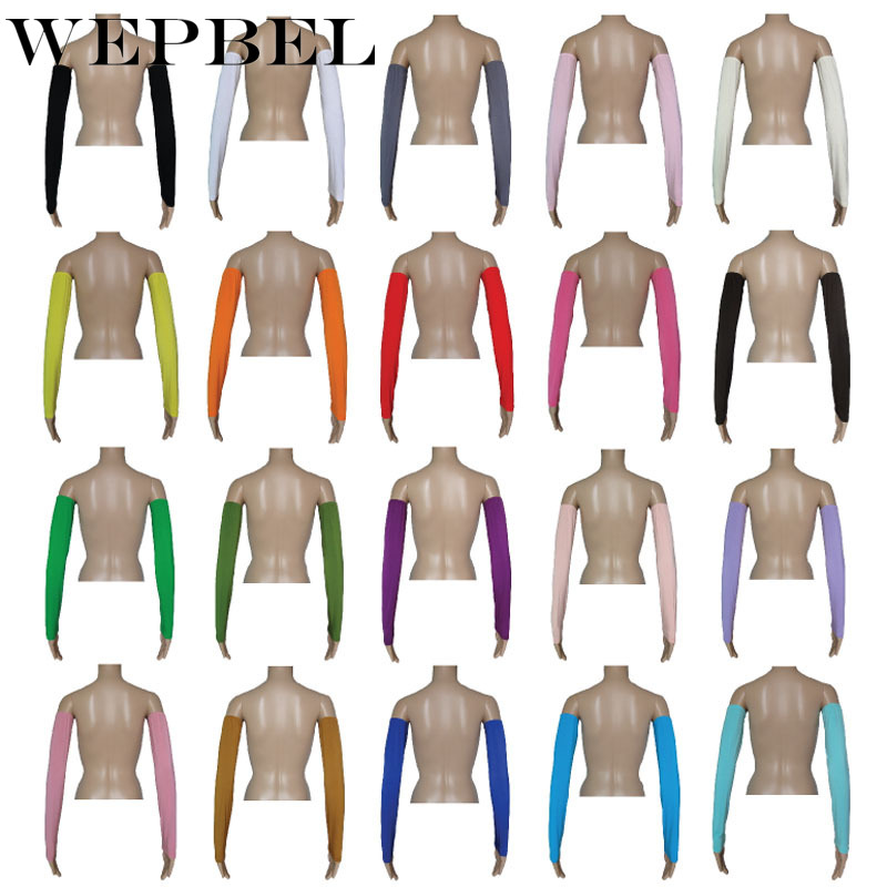 WEPBEL Muslims Fashion Arm Sleeve Modal Solid Color Women