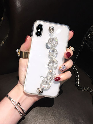 Luxury Bling Glitter Rhinestone Case For <font><b>Xiaomi</b></font> <font><b>Redmi</b></font> 8 <font><b>7</b></font> 6 4X 4A 5A 6A Note8 <font><b>7</b></font> 4 5 6Pro 4X 5A Diamond Chain Soft TPU <font><b>Back</b></font> <font><b>Cover</b></font> image