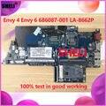 Материнская плата для ноутбука HP ENVY4 ENVY6 Envy 4/6 686087-001 с i5-3317u QAU30 LA-8662P материнская плата для ноутбука 100% полностью протестирована