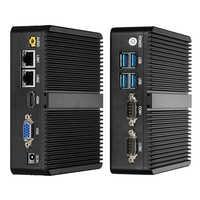 Mini PC Windows 10 Intel Celeron 3755 J1800 J1900 Pentium 3805U Miciro ordinateur 2 * Gigabit Ethernet 2 * RS232 4 * USB PC industriel