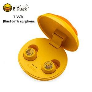 B.Duck Bluetooth наушники TWS беспроводные наушники HiFi стерео музыкальные гарнитуры водонепроницаемые IPX6 отпечатков пальцев с микрофоном