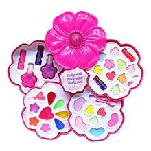 Childrens Cosmetics Princess Makeup Box Trolley Case Shape Eye Shadow Lipstick Safe Nontoxic Girl Toy Birthday