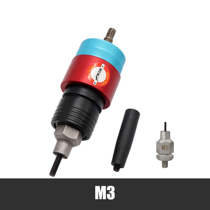 Adaptador elétrico de pistola de porca, rebite elétrico, inserção automática, ferramenta de rebitagem m3 m4 m5 m6 m8 nozes