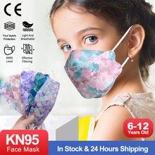 Mascarillas ffp2 niños fp2 resuable ffp2mask crianças certificado 4 camadas escamas de peixes impressão kn95 crianças máscaras fpp2 infantil