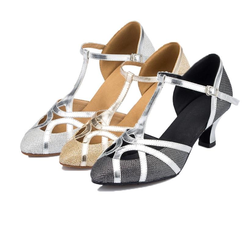 Women Professional Soft Sole Indoor Ballroom Tango Salsa Latin Dance Shoes High Heels 8cm 5cm 3cm Closed Toe Salsa Shoes