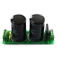 010 única placa de filtro retificador capacitor duplo módulo fonte alimentação dc para amplificador de potência de ac para dc|Circuitos| |  -