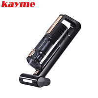 Kayme 4500pa Car Vacuum Cleaner Mini Portable Handheld Wet And Dry Dust Brush DC 12 Volt 120W With LED Lighting Lamp