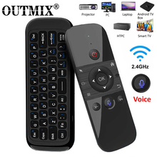 Mini telecomando ricaricabile W1 PRO Fly Air Mouse tastiera Wireless 2.4G per Laptop Smart Android TV Box PC