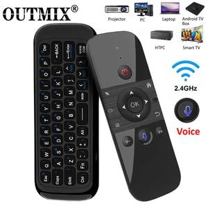 Image 1 - Original W1 PRO mouche Air souris sans fil clavier souris 2.4G rechargeable Mini télécommande pour ordinateur portable intelligent Android TV Box PC