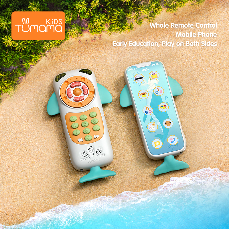 TUMAMA Baby Toys Music Baby Phone Toy Remote Phone Early Educational Toys Electric Numbers Learning Toy For Baby Gift