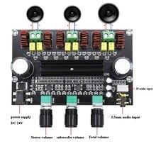 80W + 80W + 100W 2.1 ערוץ TPA3116 דיגיטלי כוח סטריאו מגבר לוח עם שני NE5532 OP AMP TPA3116D2 בס סאב מגבר