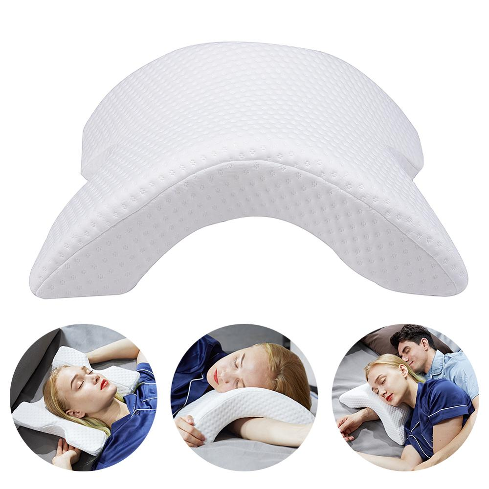 Arch U Shaped Curved Memory Foam Sleeping Neck Cervical Pillow with Hollow Design Arm Rest Hand Pillow for Couple Side Sleepers|Body Pillows| |  - AliExpress