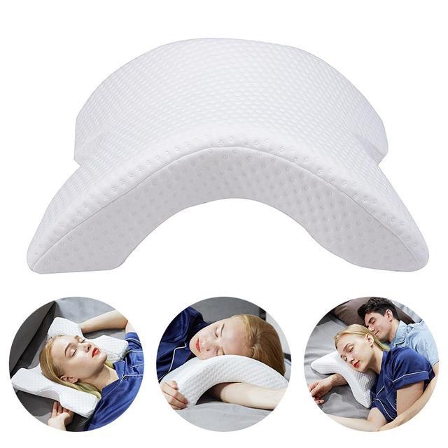 Łuk w kształcie litery U zakrzywiona poduszka z pianki Memory Sleeping Neck poduszka ortopedyczna z pustym wzorem podłokietnik poduszka ręczna dla pary podkładów bocznych