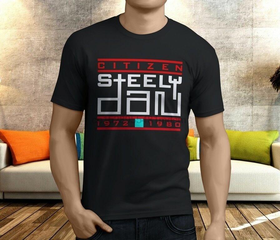 Steely Dan Reelin/' In The Years Men/'s Black T-Shirt Size S M L XL XXL XXXL