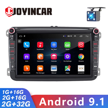 JOYINCAR Android 9.1 Autoradio for VW Passat Golf MK5/6 Caddy Touran Polo Caddy 4-core Car Stereo GPS Sat Navigation 2Din image