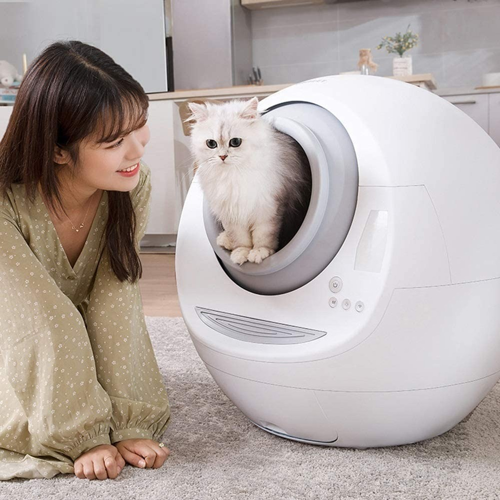 Automatic Cat Litter Box Toilet Cleaner Electric Fully Enclosed Splash Deodorant Low Noise Cats Self Cleaning Toile Tray Trash Cat Litter Boxes    - AliExpress