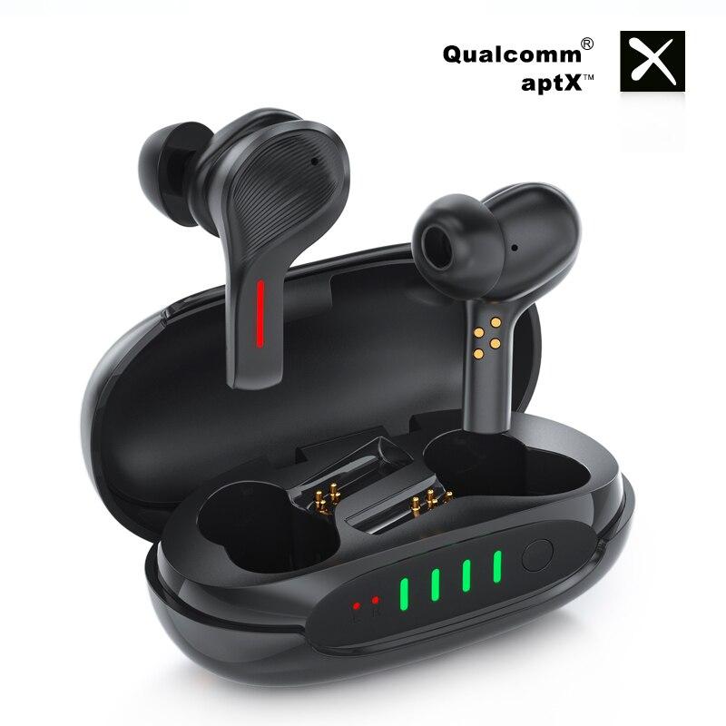 Беспроводные наушники Bluetooth 5,0 QCC3020 чип ENC шумоподавление наушники двойной микрофон HD вызов HIFI стерео Спортивная гарнитура