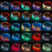 Пластиковый светодиодный светильник для очков, мигающие оттенки, для свадебной вечеринки, для дома и улицы, ночные шоу и мероприятия, рождественские декорации