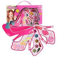 Детская косметика, набор игрушек для макияжа, ювелирный набор для девочек, игровой дом, обувь на высоком каблуке, коробка для макияжа, набор ...