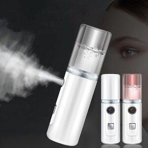 Portable 30ml USB Air Humidifier Mini Rechargable Handheld Water Ultrasonic Nano Essential Milk Oil Diffuser Face Steamed Spray
