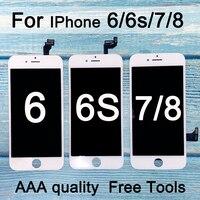 新しいの交換 iphone 6 lcd ディスプレイのための iphone 6s lcd スクリーンディスプレイタッチデジタイザーアセンブリ iphone 7 液晶
