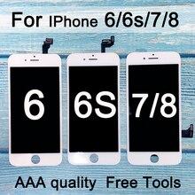 Новый Сменный ЖК дисплей для Iphone 6, ЖК экран для Iphone 6s, ЖК дисплей с сенсорным дигитайзером в сборе для iphone 7, ЖК дисплей
