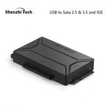 USB 3.0 to SATA IDE External Hard Drive Converter for 2.5 & 3.5 inch HDD SDD Adapter(EU plug)