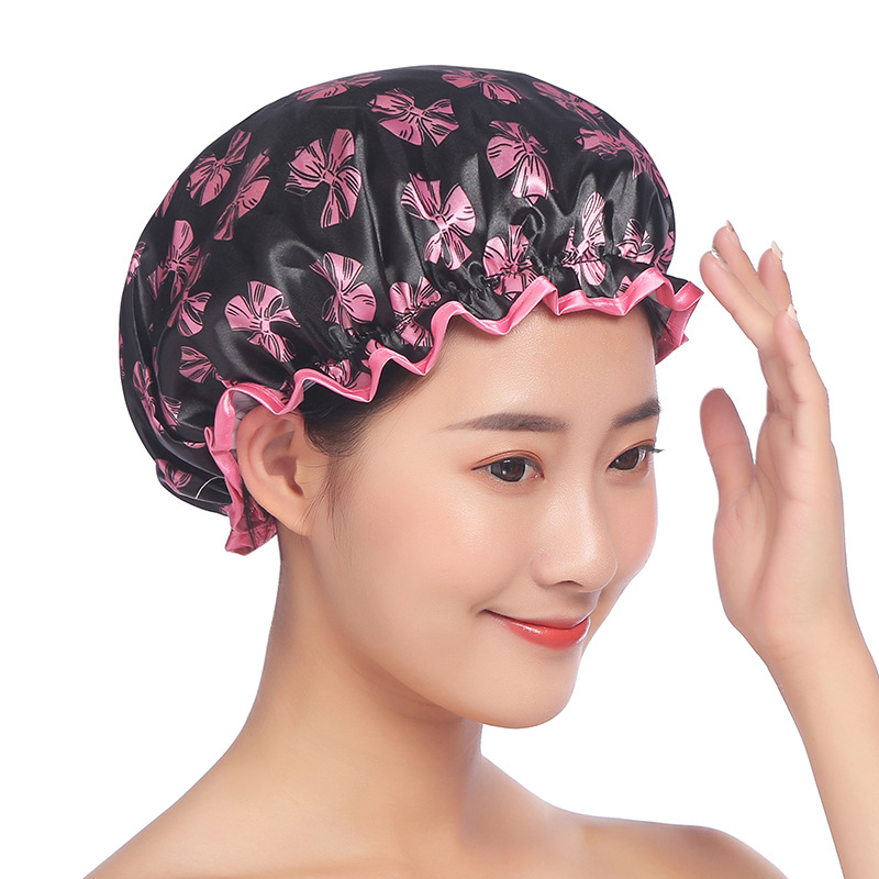 Thick Bath Shower Cap Women Hair Satin Bonnet For Sleeping Caps Silk Bonnet For Ladise Hair Head Wrap Sauna Shower Caps