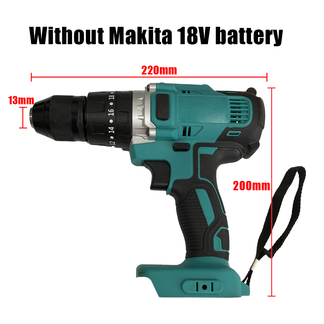 Bürstenlosen Auswirkungen Bohrer Akkuschrauber Für Makita 18-21V Keine Batterien Holzbearbeitung Werkzeuge bohren maschine 13mm