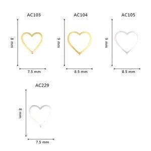 Золотистые/серебристые металлические наклейки для ногтей в форме сердца, 100 шт., милые заклепки, 3D украшения для ногтей, стразы, аксессуары для Дня Святого Валентина, лидер продаж 2021
