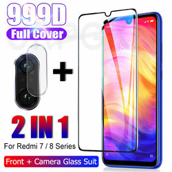 На Алиэкспресс купить стекло для смартфона 2in1 999d protective glass for xiaomi redmi note 7 8 9 pro max 8t 9s tempered glass on redmi 8 8a 7a screen protector lens film
