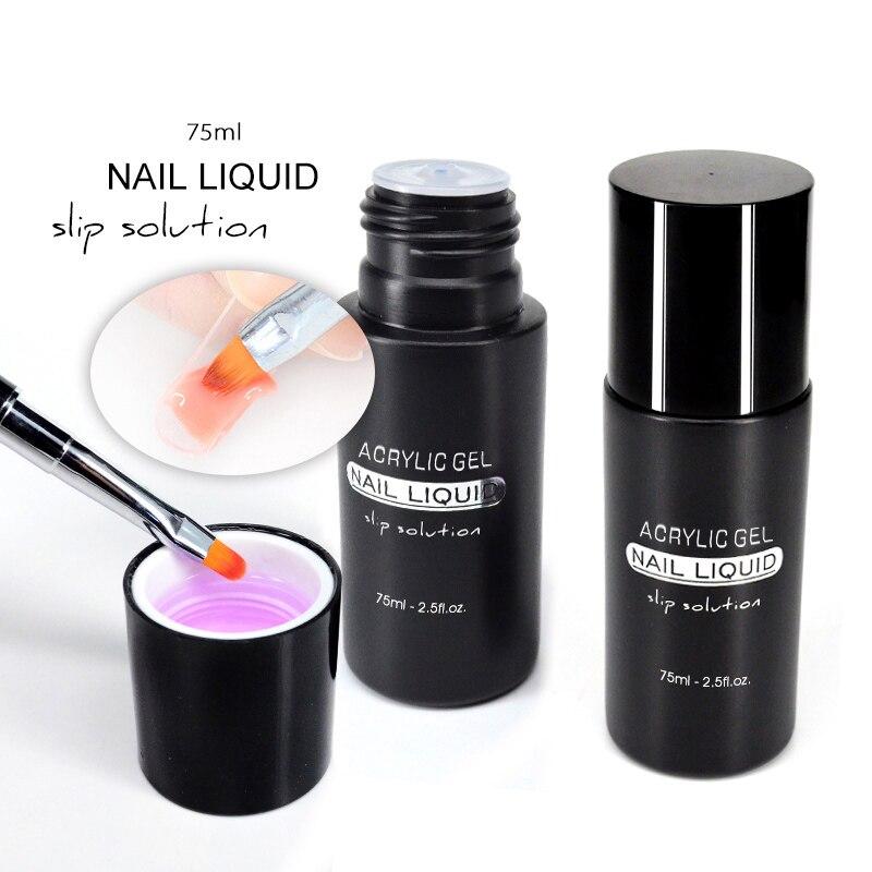 Gel pour ongles à Extension en Poly liquide pour tremper les LED UV Gel brosse à ongles