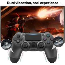 Wireless Controller Bluetooth 4.0 Double Shock Joystick Gamepads for Playstation PS 4 Gamepad Version 2 for PC phone Video Games(China)
