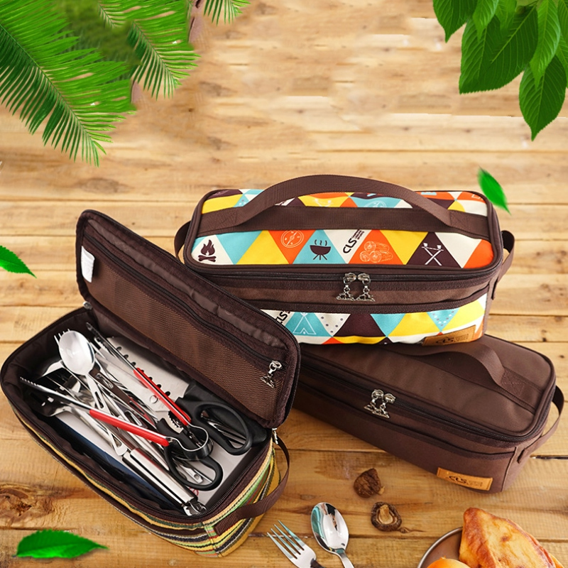 Functional Outdoor Camping Travel Lunch Box Storage Bag Portable Toiletry Bag Wash Shower Cosmetic Makeup Organizer