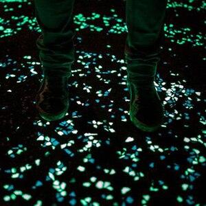 Image 4 - 100/50pc Glow in the Dark Garden Pebbles Glow Stones Rocks for Walkways Garden Path Patio Lawn Garden Yard Decor Luminous Stones
