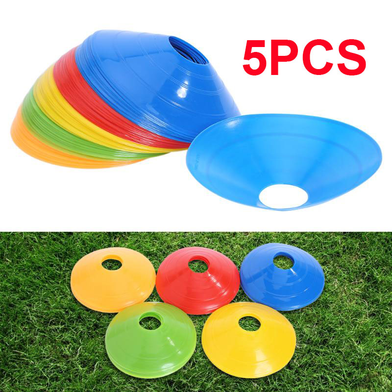 Marker Cones 5pcs Convenient Beginner Soccer Marker Disc Football Training  Barrier Prop Court Marking Skating Sport PE Lawn