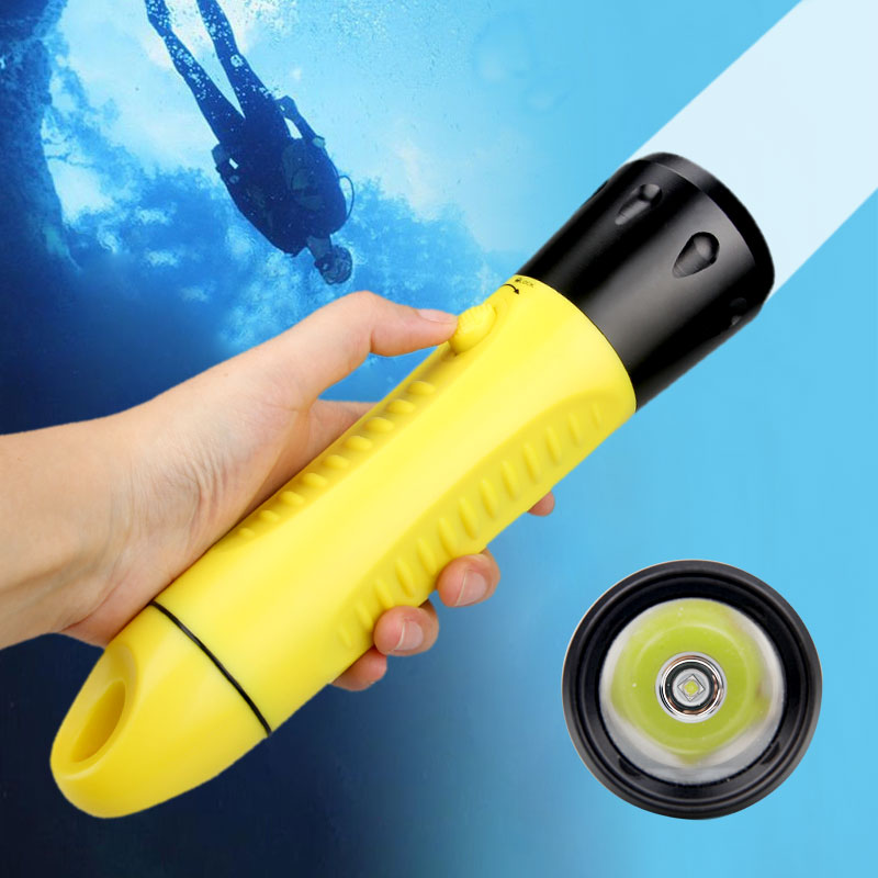 Professional Diving Flashlight Direct Charge Lanterna Hard Light Waterproof IPX8 Torch ABS L2 LED 3 Mode Built-in Battery 20-60M