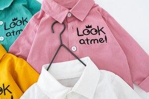 Image 4 - סטים חדשים בגדי ילד מכתב חולצה + מכנסיים 2PCS סט פעוט בני אביב סתיו להאריך ימים יותר אופנה בגדי 1 2 3 4 שנה