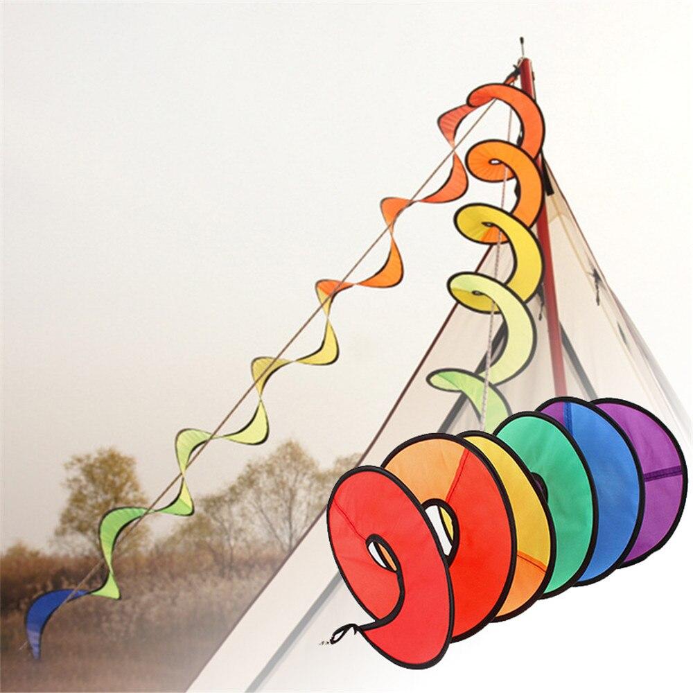 Палатка аксессуары цвет мельница тент повесить флаг украшение радуга ветер бар лагерь вращающийся воздуховод красочный палатка Sika