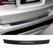 Kauçuk araba arka tampon Trim koruma plakası koruyucu Sticker kapak BMW için F20 F45 F30 F32 G30 F10 G32 F01 g12 Z4 X1 X3 X4 X5 X6 X7