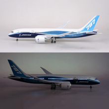 47CM Airplane Model Toys Boeing B787 Dreamliner Airlines Model With Light and Wheels 1/130 Scale Diecast Plastic Resin Plane