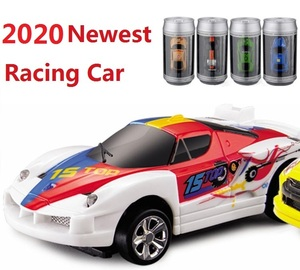 16 Hot Sale Coke Can Mini RC Car Electronic cars Radio Remote Control Micro Racing Car 20km/h High speed Vehicle Gifts for Kids(China)