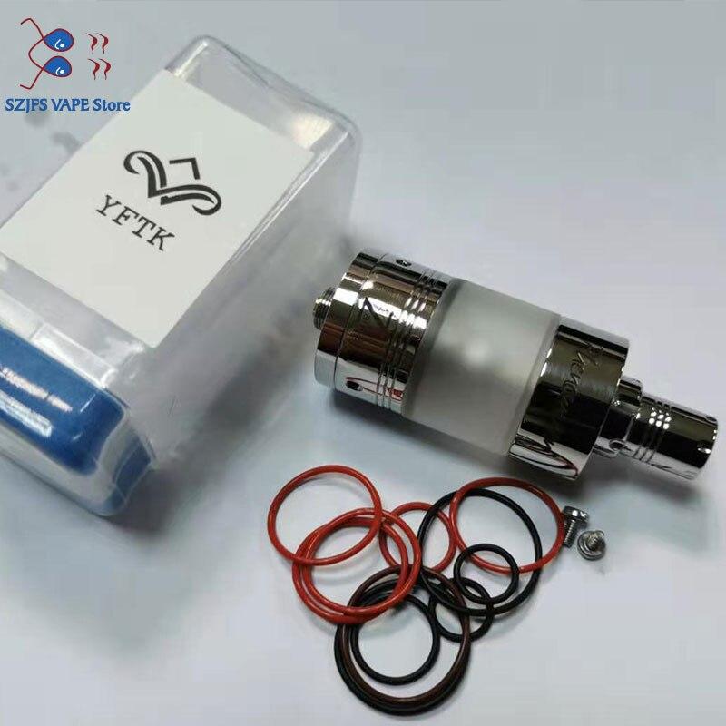 YFTK Style Phenomenon Zest 2.2 Urs RTA 22mm DIY Atomizer Rebuildable Vape Tank Electronic Cigarette For 510 Vape Mod Vs Taifun