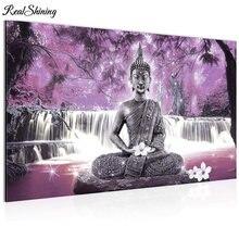 5d алмазная живопись с мотивом водопада Будды настенное искусство