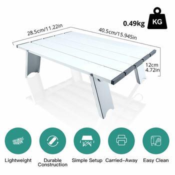 Ultralekki stół na zewnątrz mini składany przenośny stół turystyczny biurko stół piknikowy lekki aluminiowy stół podróżny na dziki kemping tanie i dobre opinie CN (pochodzenie) Metal Aluminium Minimalistyczny nowoczesny Montaż Rectangle size Na zewnątrz tabeli Meble ogrodowe camping table